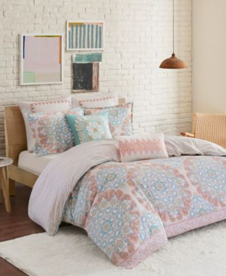 Design Simona Full/Queen 3 Piece Reversible Cotton Duvet Cover Set