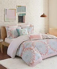 Echo Design Simona Full/Queen 3 Piece Reversible Cotton Duvet Cover Set