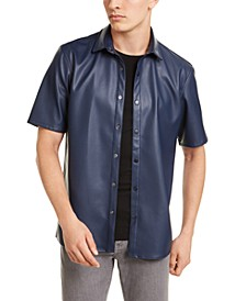 Men's Faux-Leather Shirt, Created For Macy's