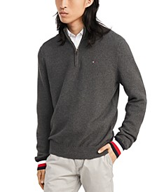Men's Clifton Quarter Zip Logo Sweater