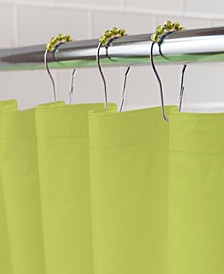 Medium Weight Mildew-Resistant Shower Curtain Liner and Ring Set