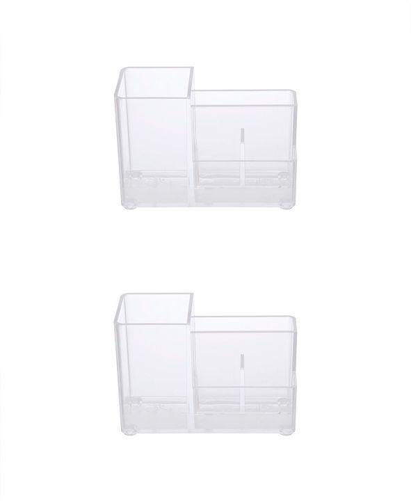 Kenney Bathroom Countertop Organizer, 4 Compartments, Set of 2
