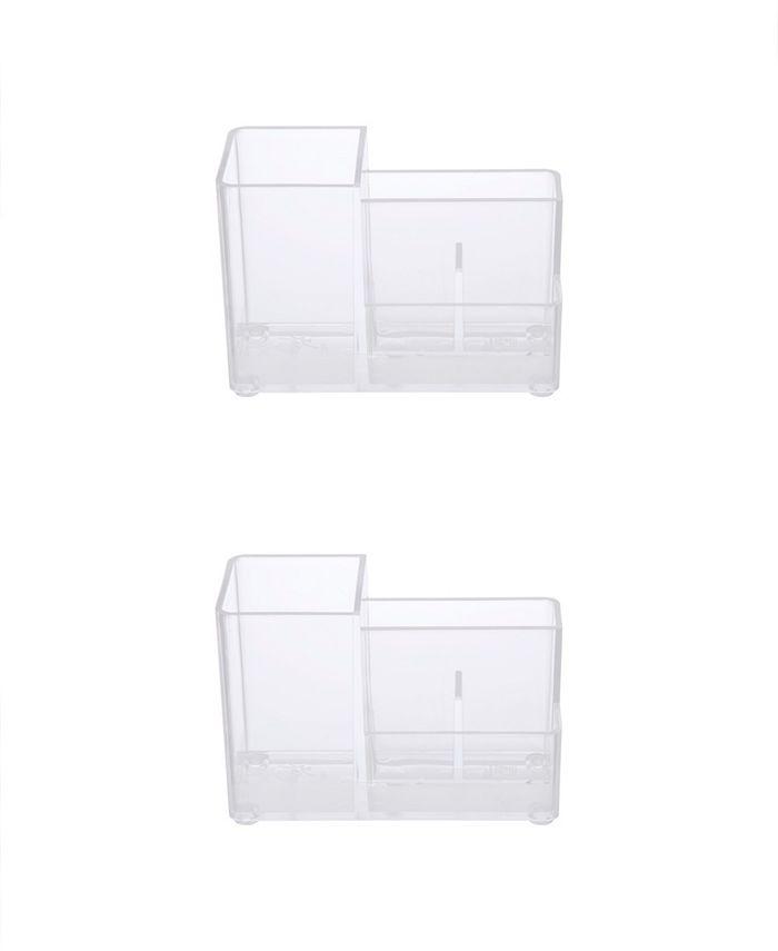 Kenney - Bathroom Countertop Organizer, 4 Compartments, Set of 2
