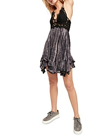 Adella Lace Tie-Dye Mini Dress