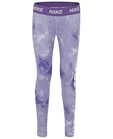 Little Girls Tie-Dyed Dri-FIT Leggings