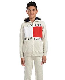 Tommy Hilfiger Big Boys Andrew Colorblocked Full-Zip Fleece Logo Hoodie