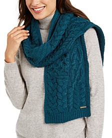 Patchwork Cable-Knit Muffler Scarf