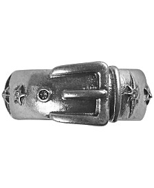 Lucky Brand Silver-Tone Buckle Design Ring