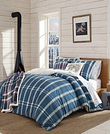 Taylor Plaid Navy Duvet Cover Set, Full/Queen