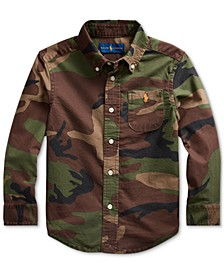 Little Boys Camo Oxford Shirt