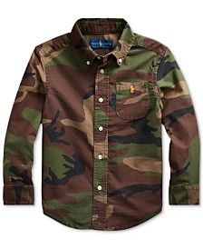 Polo Ralph Lauren Toddler Boys Camo Oxford Shirt