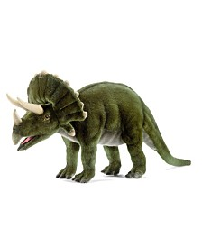 "Hansa 20"" Triceratops Dinosaur Plush Toy"