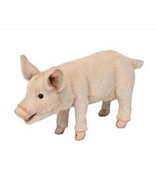 Standing Piglet Plush Toy