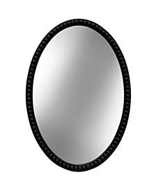 Black Oval Wooden Beaded Mirror