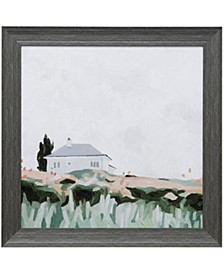 House on a Hill II Textured Framed Print
