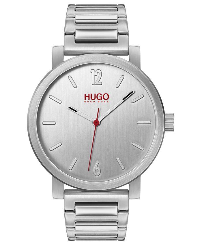 HUGO - Men's #Rase Stainless Steel Bracelet Watch 42mm