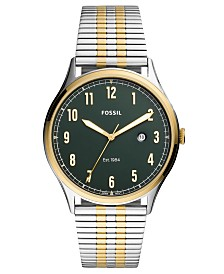 Fossil Men's Forrester Two-Tone Stainless Steel Mesh Bracelet Watch 42mm