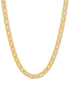 "Men's Marine Link 22"" Chain Necklace in 10k Gold"
