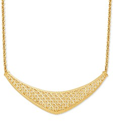 "Rope Lattice 18"" Statement Necklace in 10k Gold"