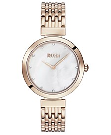 Women's Celebration Rose Gold Ion-Plated Stainless Steel Bracelet Watch 28mm