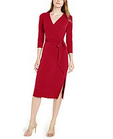 INC Side-Tie Faux-Wrap Dress, Created for Macy's