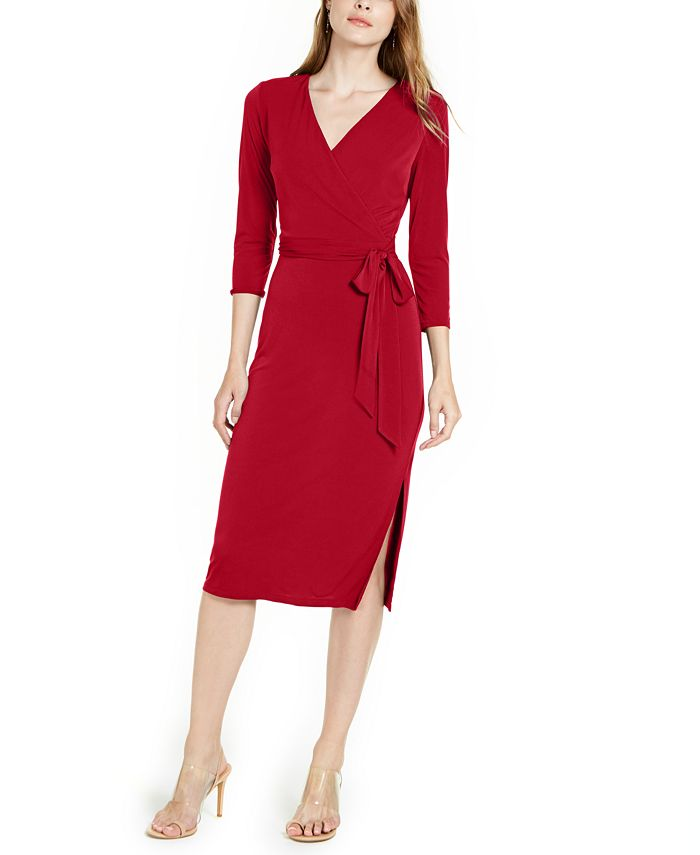 INC International Concepts - Side-Tie Faux-Wrap Dress