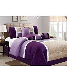 Luxlen Scribner 7 Piece Comforter Set, Cal King