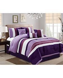 Luxlen Fulgham 7 Piece Comforter Set, Queen