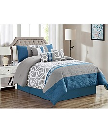 Luxlen Burrier 7 Piece Comforter Set, Cal King