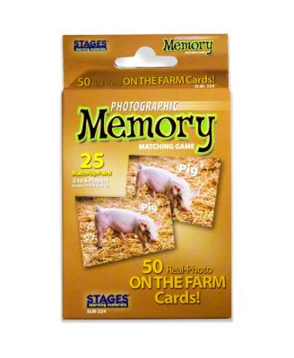Stages Learning Materials - Picture Memory Card Game - On The Farm