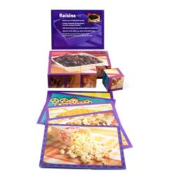 Stages Learning Materials Real Picture Snacks Wooden Cube Puzzle 12 Piece