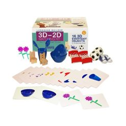 Stages Learning Materials Language Builder 3D-2D Matching Kit, Everyday Objects