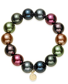 Imitation Pearl (14mm) Stretch Bracelet, Created for Macy's