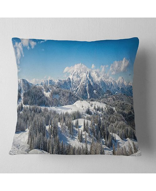 Design Art Designart Austrian Alps Winter Panorama Landscape Printed Throw Pillow 26 X 26 Reviews Decorative Throw Pillows Bed Bath Macy S