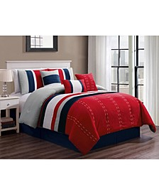 Kastner 7 Piece Comforter Set, Cal King