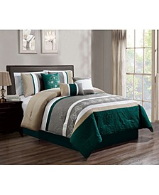 Suniga 7 Piece Comforter Set, Queen