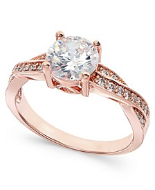 Rose Gold-Tone Crystal Infinity Ring, Created For Macy's