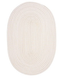 Colonial Mills Ticking Stripe Oval Canvas 2' x 4' Accent Rug