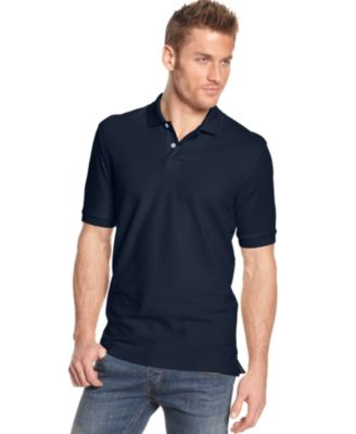 Image of Club Room Classic-Fit Short Sleeve Solid Estate Performance Sun Protection Polo, Only at Macy's