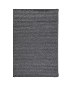 Sunbrella Solid Granite 2' x 3' Accent Rug