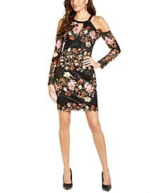 Cold-Shoulder Lace Bodycon Dress