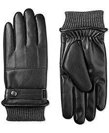 Men's Faux-Leather SleekHeat Gloves