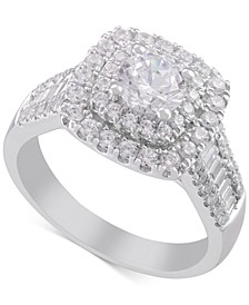 Diamond Double Halo Engagement Ring (1-3/4 ct. t.w.) in 14k White Gold