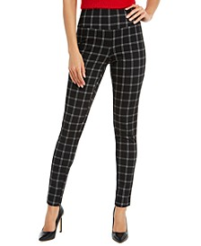 INC Women's Windowpane Plaid Leggings, Created For Macy's