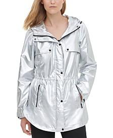 Calvin Klein Metallic Hooded Anorak Jacket