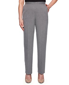 Alfred Dunner Petite Boardroom Straight-Leg Pants
