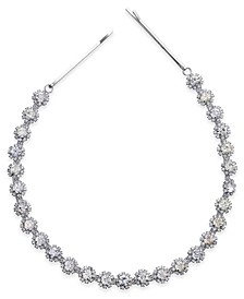 I.N.C. Silver-Tone Crystal Circle Stretch Headband, Created For Macy's