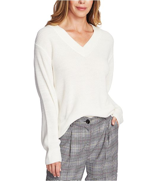 Vince Camuto Ribbed-Knit V-Neck Sweater