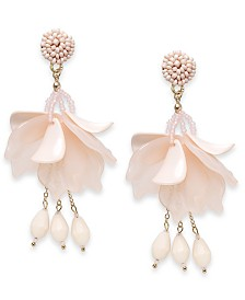 I.N.C. Gold-Tone Petal Drop Earrings, Created for Macy's