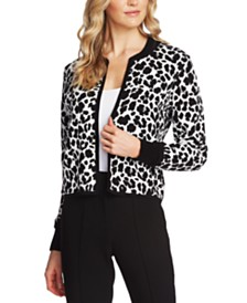 Vince Camuto Jacquard Leopard-Print Jacket